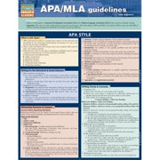 BarCharts 9781423217589 Apa & Mla Guidelines Quickstudy Easel