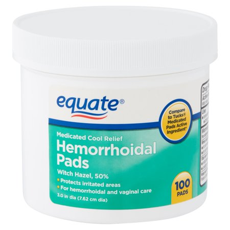 Medicated Astringent Pads (Equate Medicated Cool Relief Hemorrhoidal Pads, 100 Count )