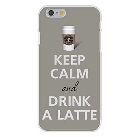 Apple iPhone 6 Custom Case White Plastic Snap On - Keep Calm and Drink A Latte](Halloween Latte Drinks)