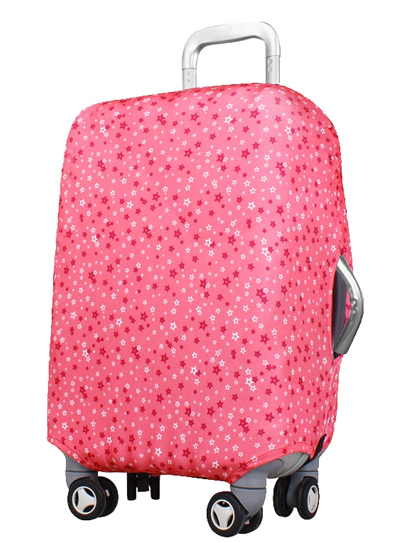 Unique Bargains Star Pattern Washable Luggage Suitcase Trolley Protective Cover Pink 22-26 Inch