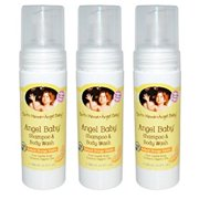Earth Mama Angel Baby Shampoo & Body Wash, 3 Pack