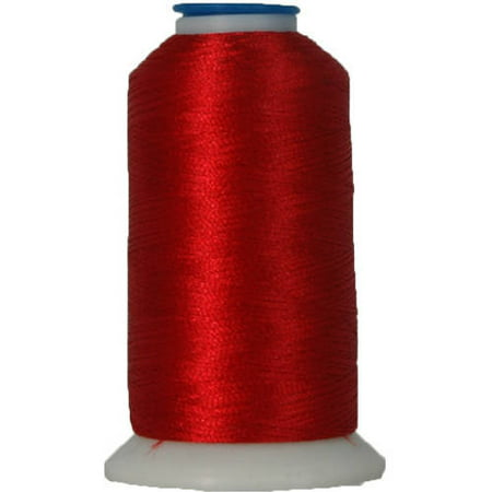 Threadart Polyester Machine Embroidery Thread - No. 148 - Christmas Red - 1000M - 220 Colors ()