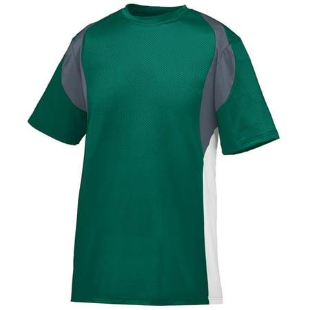 Augusta Sportswear 1515 Sports Uniform Jersey Wicking Poly/Span Short-Sleeve with Contrast Inserts Men's ()