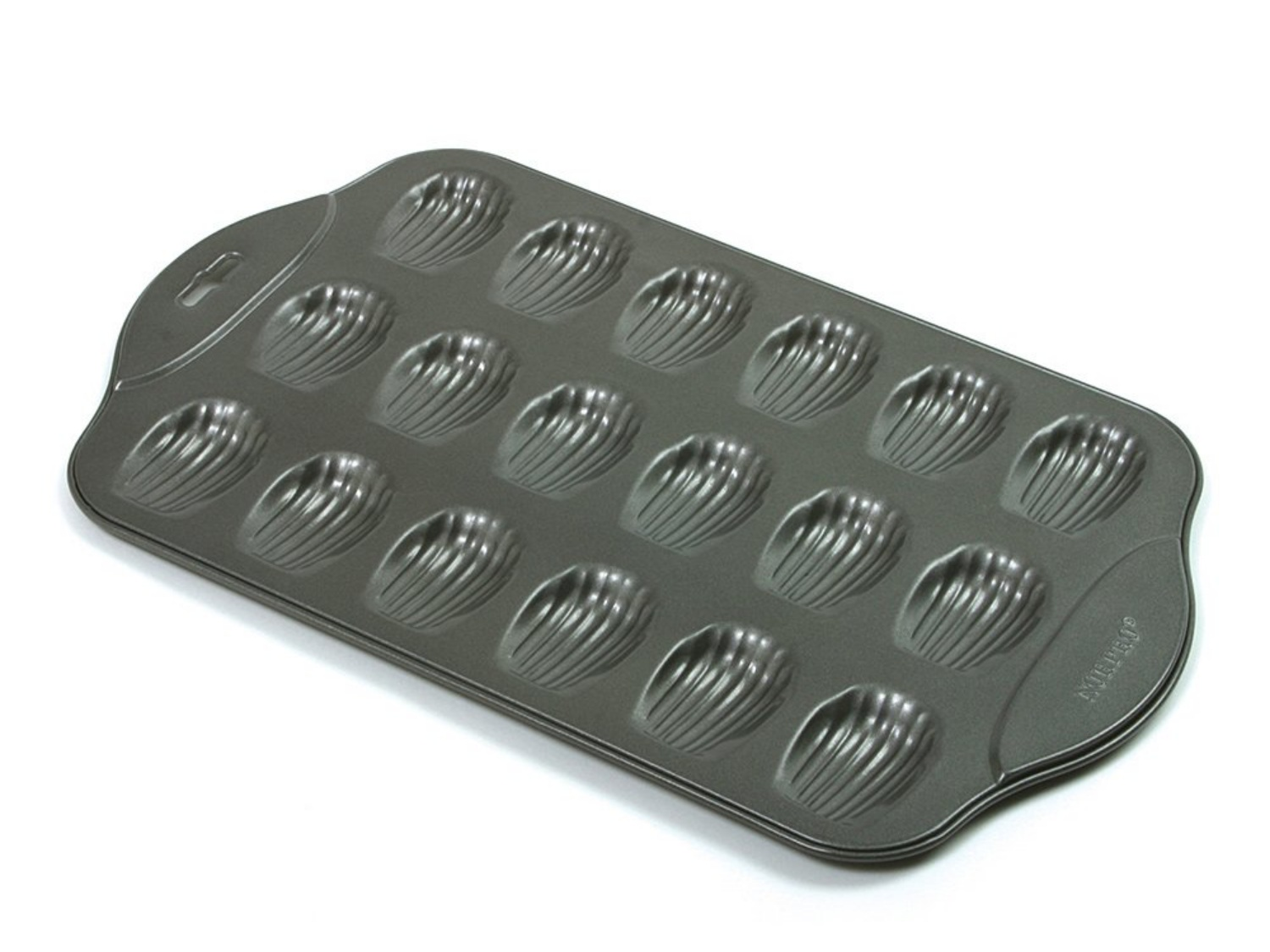 and More Candy Chocolate Freshware CB-107RD 18-Cavity Medium Silicone Mold for Homemade Madeleine Cookies