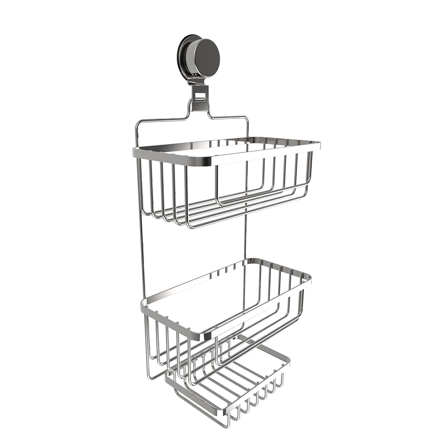 Wall Mounted 3 Tier Caddy-Hanging Shower Storage Rack for...