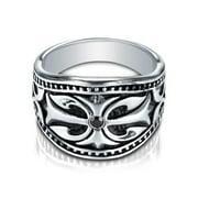 Cobalt Men's Diamond Accent Black Inlay Ring Size 12.5