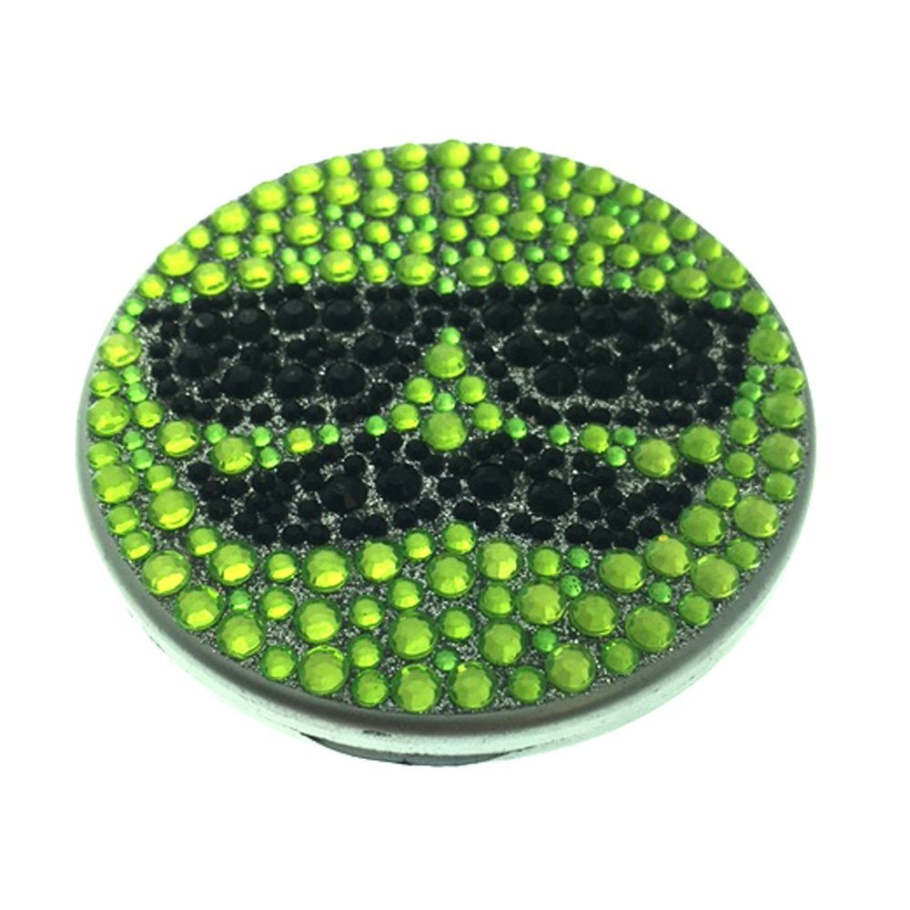 Compact Bling Beauty Cosmetics Make-Up Mirror - Green/ Black