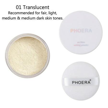 Sewn On Face Halloween Makeup (iLH Mallroom PHOERA Powder Loose Face Powder Translucent Smooth Setting Foundation)