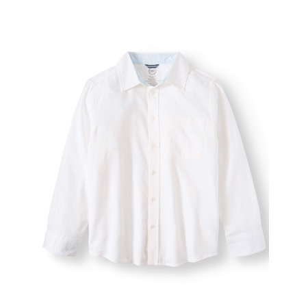 Long sleeve stretch classic button up shirt (little boys, big boys, & (Boys Long Sleeve Denim Shirt)