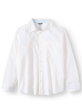 8a3a149cd91fe Product Image Long sleeve stretch classic button up shirt (little boys