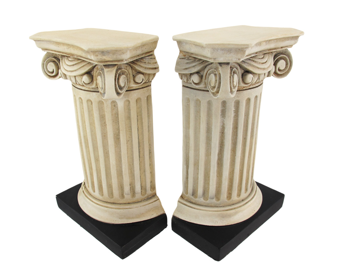 Beautiful Roman Column Bookends by House Parts, Inc.