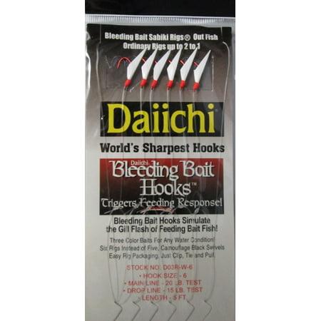 Daiichi D03R-W6 Bleeding Sabiki Rig Multi-Colored