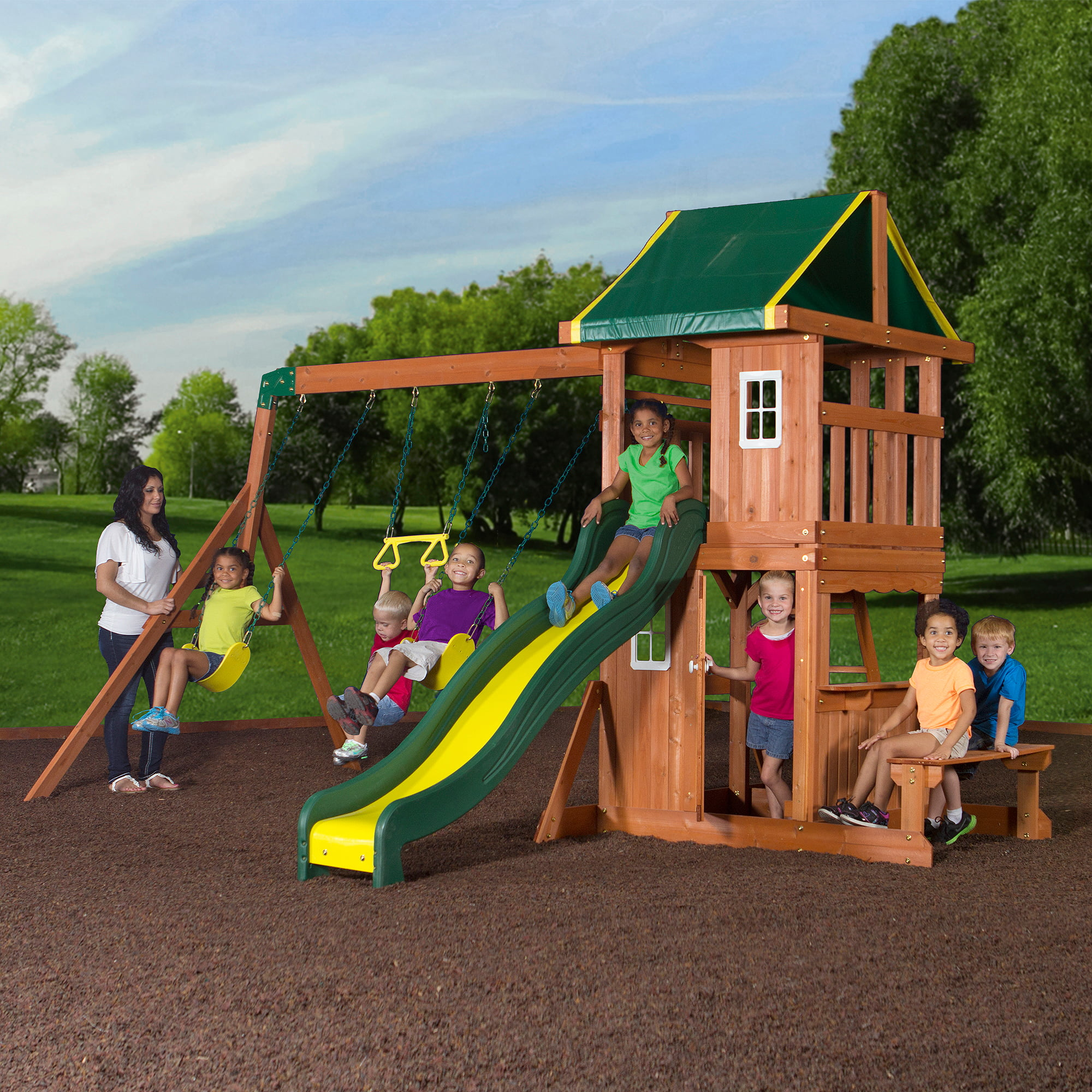 Cedar Summit Premium Play Sets Forest Hill Retreat Ready to