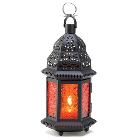 gifts & decor amber moroccan metalwork hanging candleholder lantern Moroccan Hanging Candle Lantern