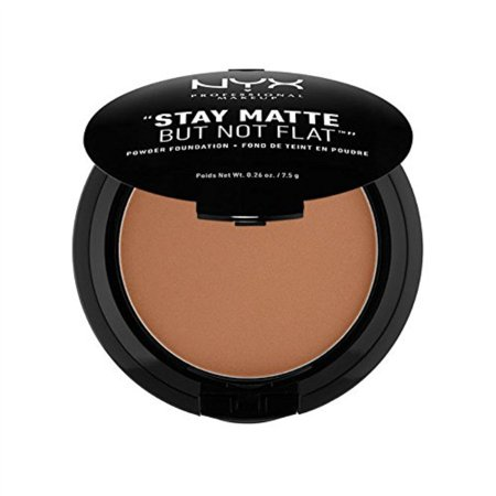 NYX PROFESSIONAL MAKEUP Stay Matte but not Flat Powder Foundation, Cocoa, 0.26 Ounce