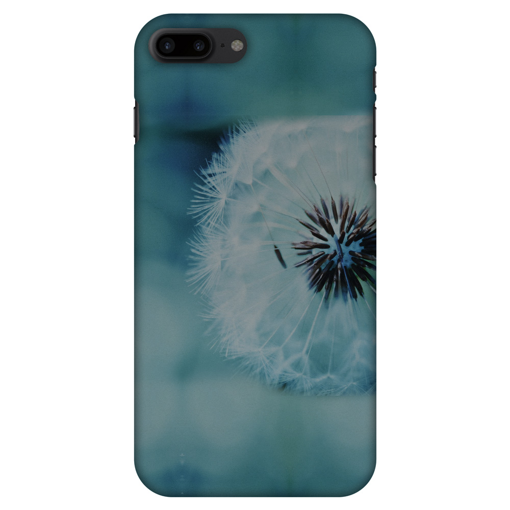 iPhone 8 Plus Case - Dandelion Close By, Hard Plastic Back Cover. Slim Profile Cute Printed Designer Snap on Case with Screen Cleaning Kit