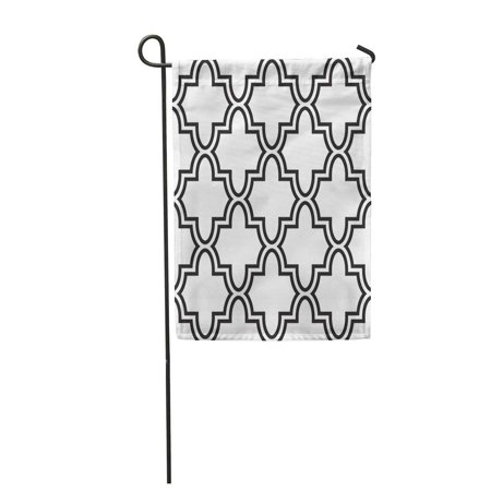 JSDART Beautiful Modern Geometric Monochrome Pattern Lattice Abstract Figures Black Garden Flag Decorative Flag House Banner 28x40 inch - image 1 de 1