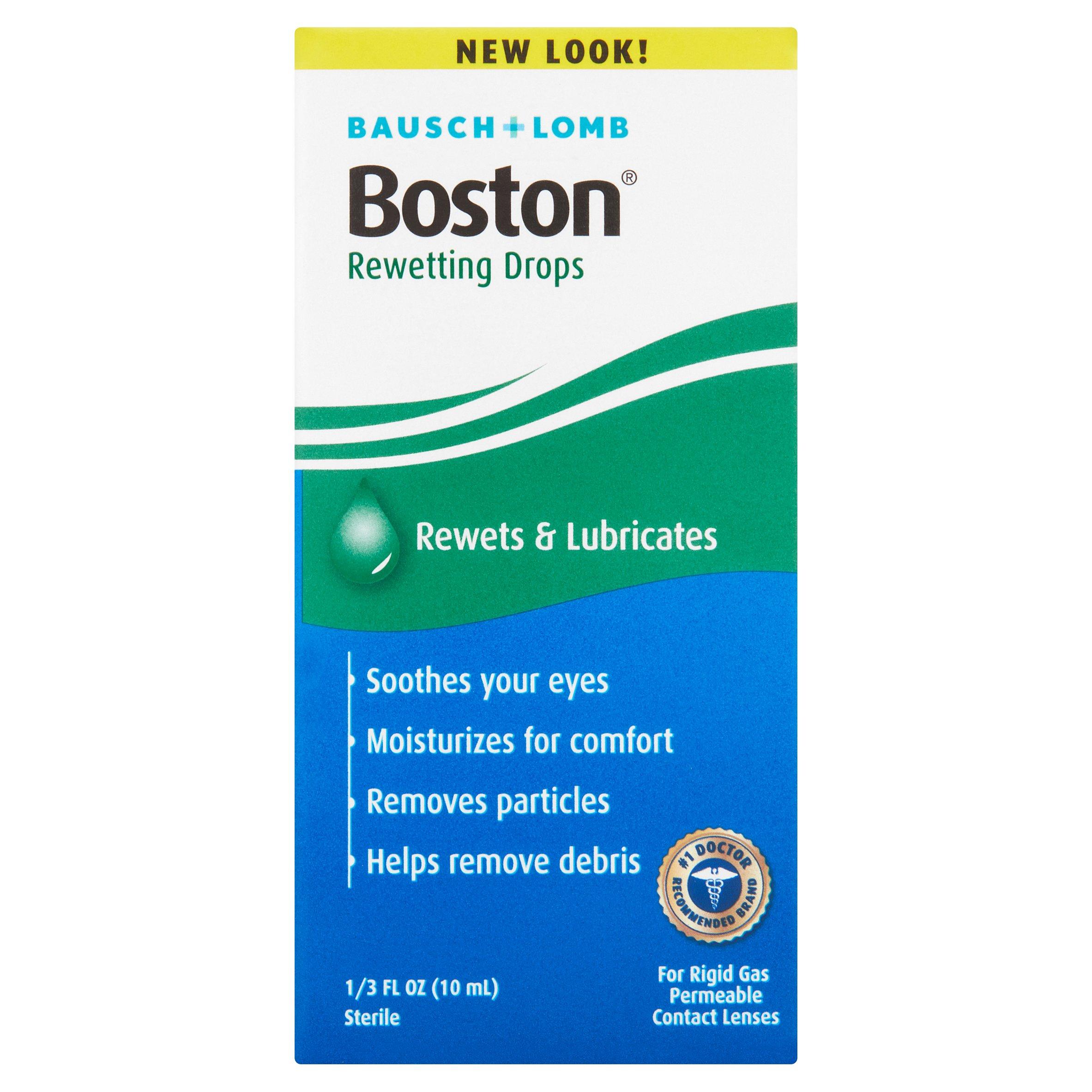 Bausch + Lomb Boston Rewets & Lubricates Rewetting Drops, 1/3 fl oz