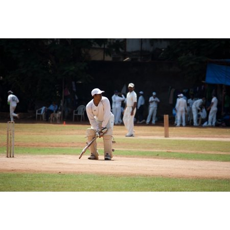 Canvas Print Ball Game India Cricket Batsman Practice Stretched Canvas 10 x (Best Cricket Ball Brand In India)