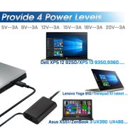 65W USB C Charger Type-C Power Charger Adapter for DELL LA65NM170 2YKOF,XPS  12 9250,Latitude 12 7275 13 7370 5285