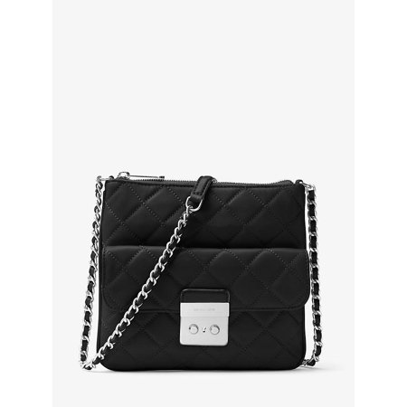 Sloan Medium Quilted-Leather Crossbody Bag - Black - 30F6ASLM2L-001 Quilted Medium Black Purse