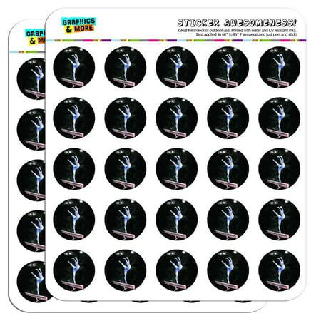 Gymnastics Scrapbook Stickers - Gymnast Blue Gymnastic Vault Pommel Horse 1