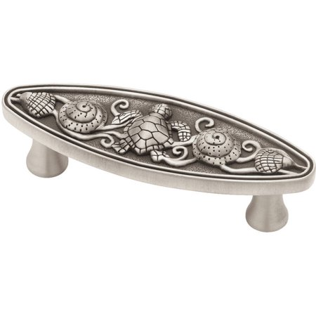 "Liberty 3"" Seaside Oval Pull, Brushed Satin Pewter"