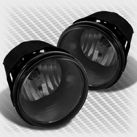 Smoked Replacement Bumper Fog Lights Lamp+Bulbs+Switch+Relay+Wiring on