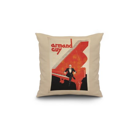Armand Guy Vintage Poster c 1930 18x18 Spun Polyester Pillow Custom Bo