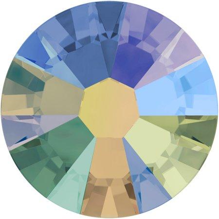 Swarovski Crystal, Round Flatback Rhinestone SS5 1.8mm, 72 Pieces, Crystal Paradise Shine Foiled ()