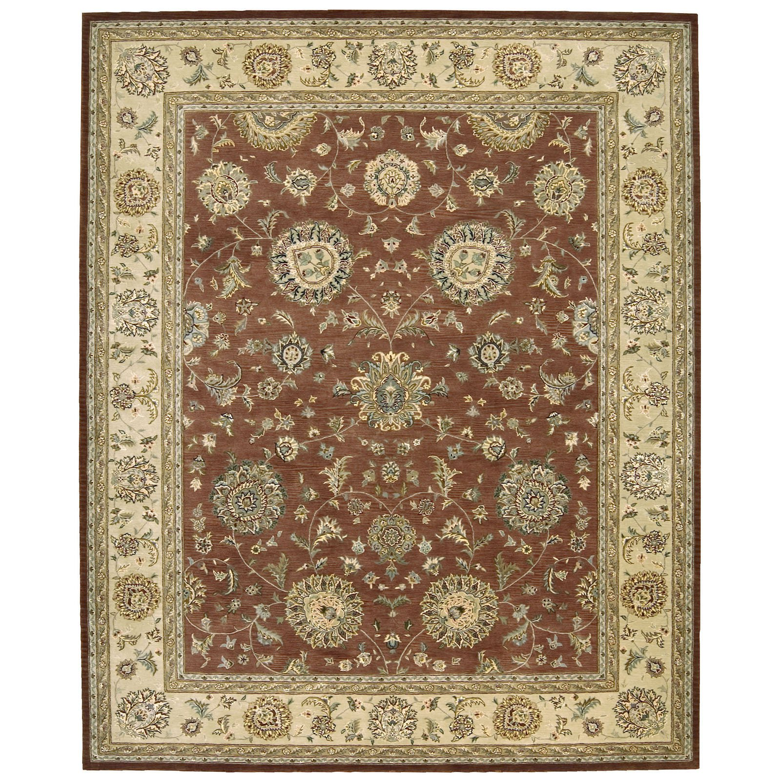 Nourison 2000 2258 Oriental Rug Rust-6 ft. Round by Nourison Rug Corp