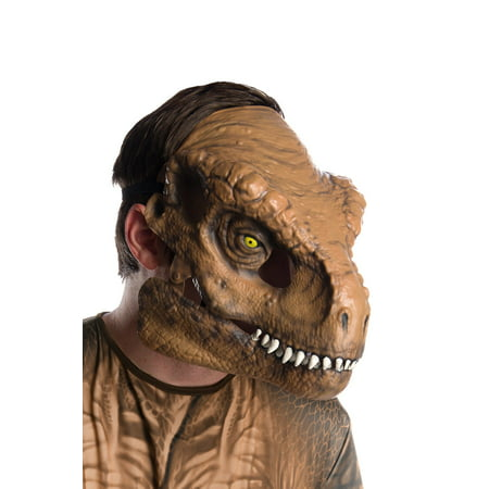 Jurassic World: Fallen Kingdom Tyrannosaurus Rex Movable Jaw Adult Mask Halloween Costume Accessory for $<!---->
