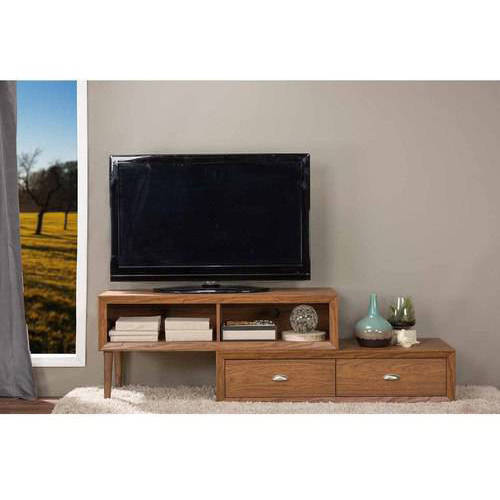 Bainbridge; Walnut; Wood Contemporary TV Stand for TVs up to 70;