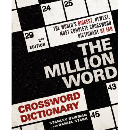 The Million Word Crossword Dictionary 2nd Edition Paperback