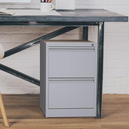 """28"""" Metal 2 Drawer Locking Under Desk Filing (Underdesk Cabinet)"""