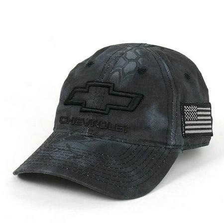 965bd3a6e9f2e2 Chevrolet 3D Bowtie Tactical Camo Cap with USA Embroidered Flag Hat (Black)  - Walmart.com