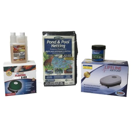 Half Off Ponds Pond Care and Maintenance Kit - Fall and Winter Package with Heater and Aerator 1500 gallons
