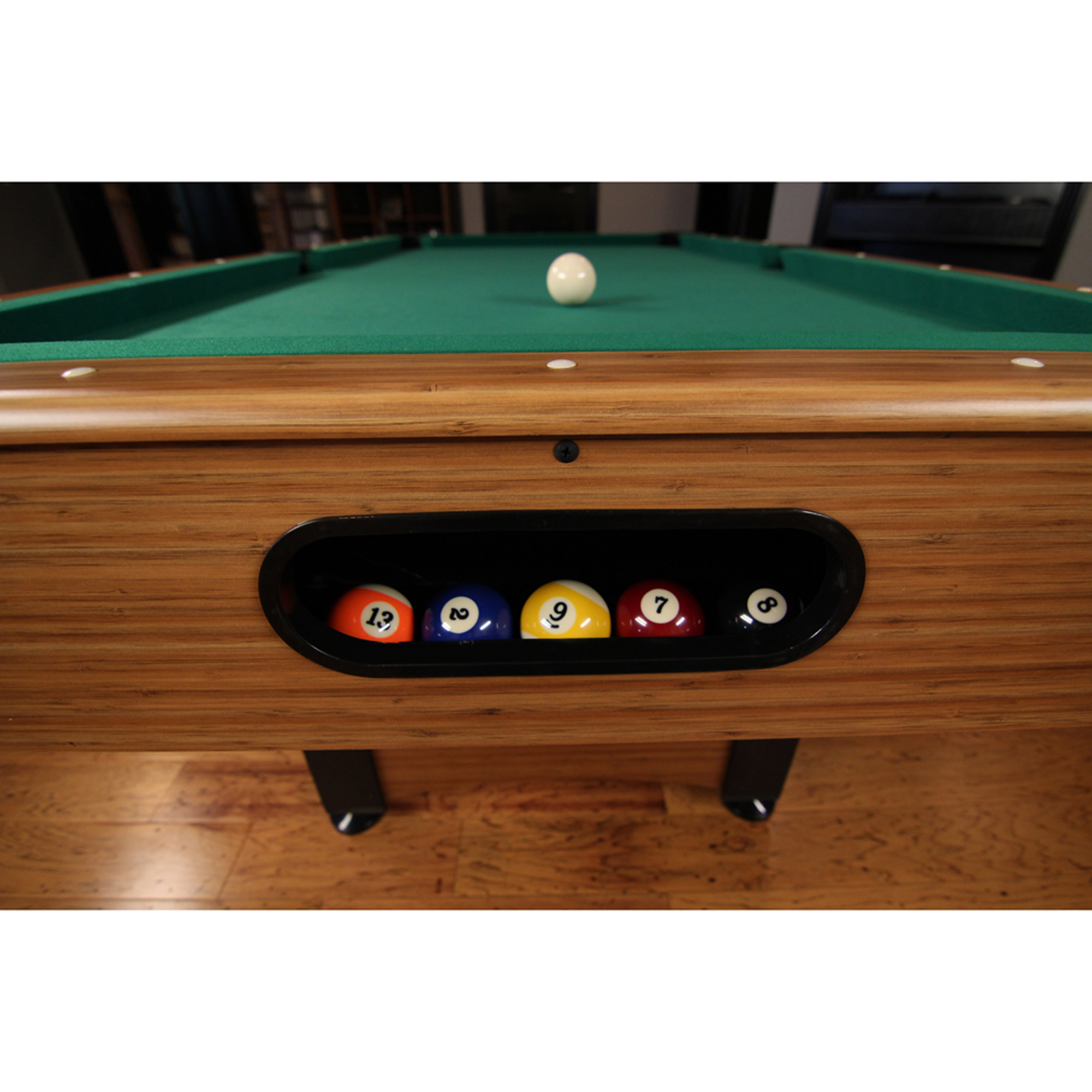 Feet Billiard Pool Table With Cues Set Of Balls Triangle - Mizerak outdoor pool table