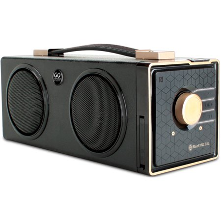 GOgroove Portable Bluetooth Room Filling Audio Speaker with NFC Technology Rechargeable Battery – Works With Samsung , Apple , Microsoft , HTC , LG and More