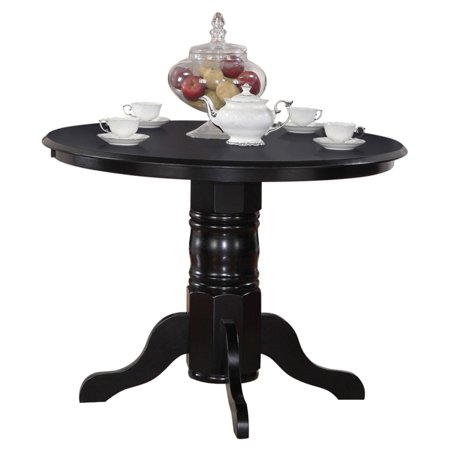 East west furniture shelton 42 inch round pedestal dining for Round table 99 rosenheim