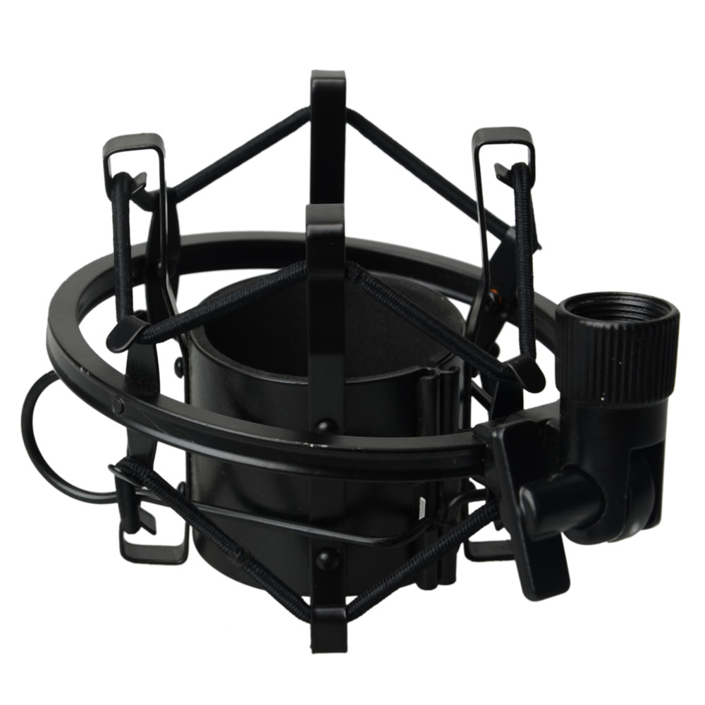 Ktaxon Universal Microphone Shock Mount For Large Diameter Condenser Mic Black by