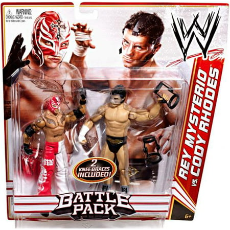 WWE Battle Pack Action Figures, Rey Mysterio vs Cody Rhodes (Buy Rey Mysterio Mask)