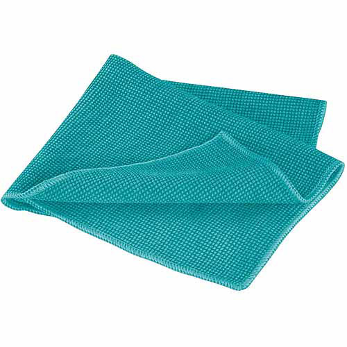Leifheit Washable and Reusable Microfiber Cleaning Cloth, Turquoise