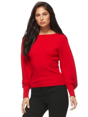 Sofia Jeans by Sofia Vergara Womens 2-Way Surplice Sweater
