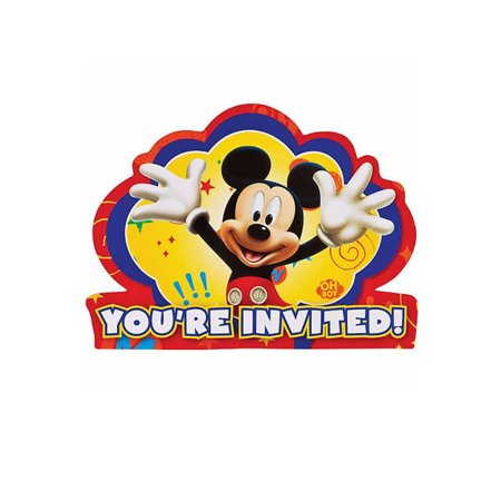 Disney Mickey Mouse Clubhouse Birthday Party Invitations 16 Count Save the Date - Mickey Mouse Ideas For Birthday Party