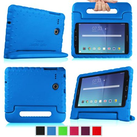 Fintie Kiddie Case for Samsung Galaxy Tab E 8.0 SM-T377 - Light Weight Shock Proof Convertible Handle Cover, - Kiddie Leather