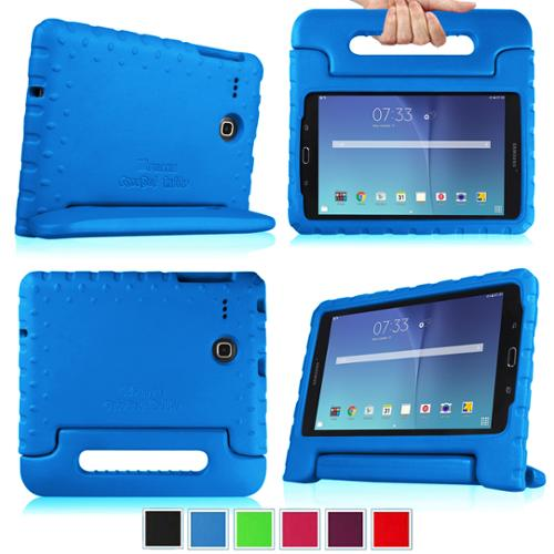 Fintie Kiddie Case for Samsung Galaxy Tab E 8.0 SM-T377 - Light Weight Shock Proof Convertible Handle Cover, Blue