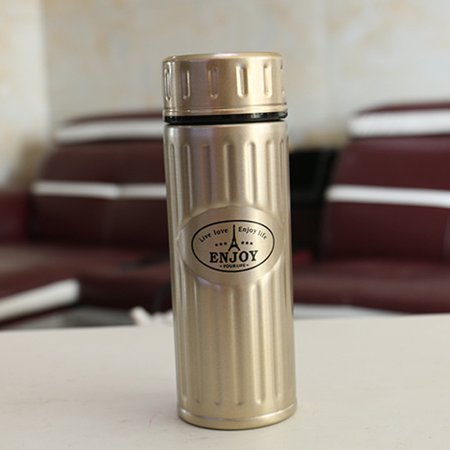 Men And Women Steel Pattern Bubble Tea Leak Portable Stainless teel Vacuum flask (Pattern Flask)