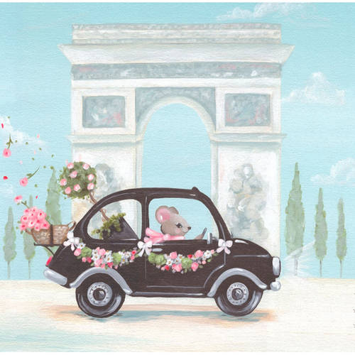 Oopsy Daisy's Little Black Car Canvas Wall Art, 10x10
