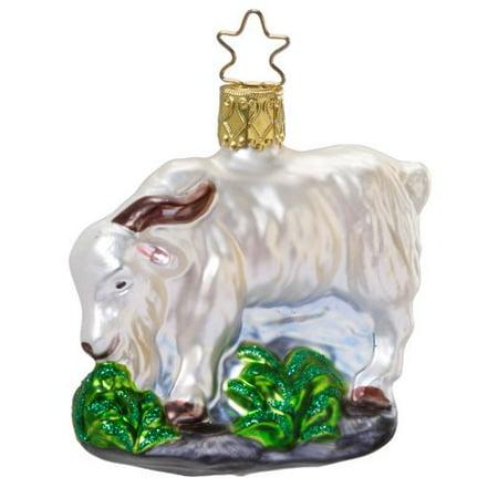 Goat Christmas Ornament.Inge Glas Rock Climber Mountain Goat Mouth Blown German Glass Christmas Ornament